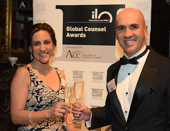 Recognition: amongst the World's Top 5 General Counsel, at Global Counsel Awards (ILO/ACC) – at NYC
